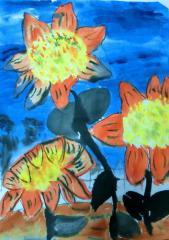 铜奖水墨画-向日葵