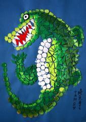金奖手工画-鳄鱼来了