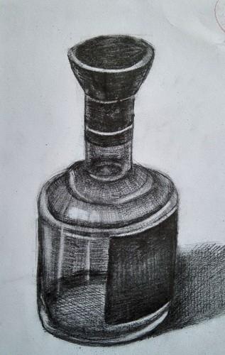 铜奖素描静物画-素描静物