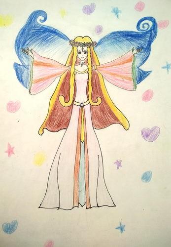 银奖儿童画-女神