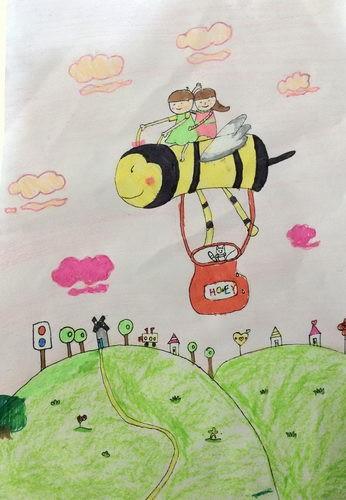 优秀奖儿童画-收获
