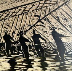 银奖版画-鱼米之乡