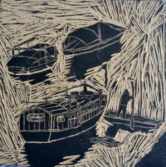 金奖版画-鱼米之乡