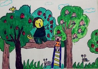 优秀奖儿童画-丰收