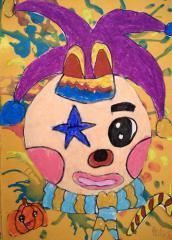优秀奖儿童画-小丑