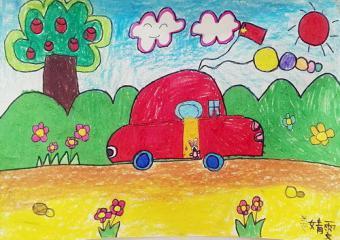 铜奖儿童画-快乐旅途