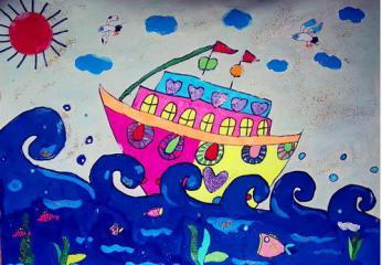 银奖儿童画-远航