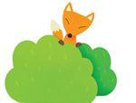 七巧板拼图图案:狐狸