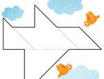 七巧板拼图图案:飞机