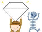 七巧板拼图图案:宝石
