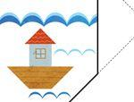 七巧板拼图图案:灯塔
