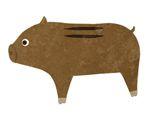 七巧板拼图图案:野猪