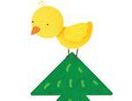七巧板拼图图案:松树