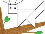 几何形状拼板拼图:松鼠
