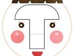 心形八巧板拼图:笑脸
