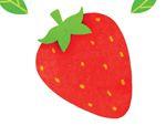 心形八巧板拼图:草莓