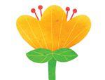 心形八巧板拼图:盛开的花朵