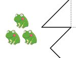 心形八巧板拼图:数字3和4