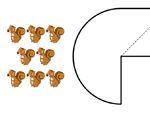 心形八巧板拼图:数字7和8