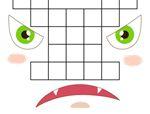 俄罗斯智力巧板拼图:生气的脸