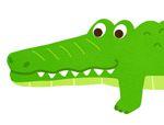 俄罗斯智力巧板拼图:鳄鱼