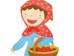 几何形状拼板拼图:草莓
