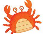 几何形状拼板拼图:螃蟹