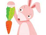 几何形状拼板拼图:胡萝卜