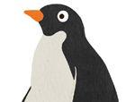 几何形状拼板拼图:企鹅