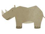 几何形状拼板拼图:犀牛