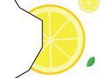 几何形状拼板拼图:柠檬