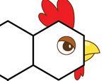 异形积木拼板:公鸡和毛毛虫