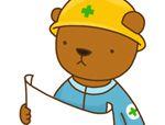 异形积木拼板:吊车和挖土机